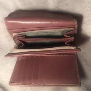 "Coach Bags - Tri-fold pink coach leather wallet 5""x4""x11"""